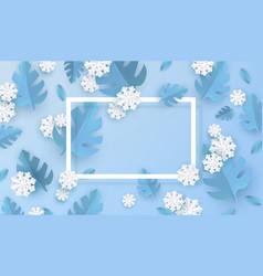 blue winter natural banner vector image
