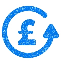 Chargeback pound grainy texture icon vector