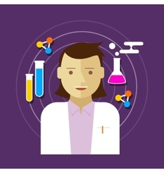 chemist scientist lab woman vector image