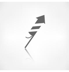 Christmas firework rocket icon vector