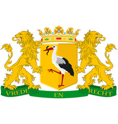 Coat of arms of the hague of netherlands vector