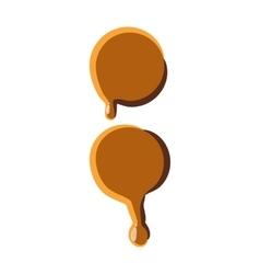 Colon from caramel icon vector