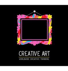 Colorful rectangular frame in modern styl vector