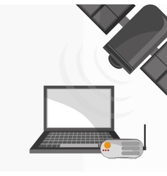 Communication design Internet concept Isolated vector image