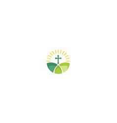 cross religious logo icon vector image