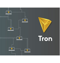 Cryptocurrency tron blockchain virtual digital vector
