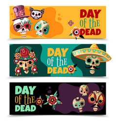 Dead day banners vector