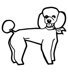 Dog for Coloring Book vector