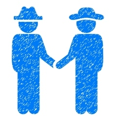 Gentleman Handshake Grainy Texture Icon vector