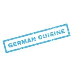 German Cuisine Rubber Stamp vector