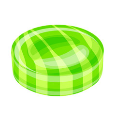 green caramel icon cartoon style vector image