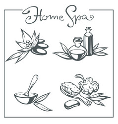 home spa collection beauty and spa vector image