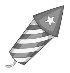 independence day firework icon monochrome vector image