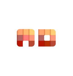 initial letters ad a d square pixel logo design vector image