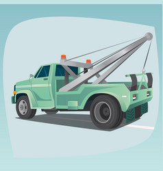 Isolated tow truck with crane vector
