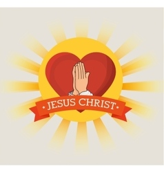 jesus christ design vector image