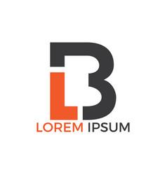 lb letter logo design vector image