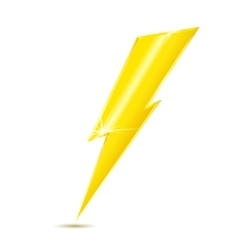 Lightning bolt icon isolated on white background vector