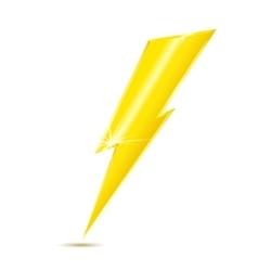 Lightning bolt icon isolated on white background vector