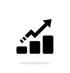Line chart up icon on white background vector image