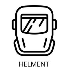 metal welder helmet icon outline style vector image