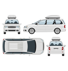 minivan template vehicle branding mockup vector image