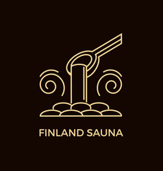 modern line style sauna logotype template vector image