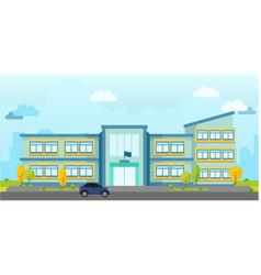 modern school building landscape vector image