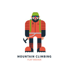 mountaineer logo vector image