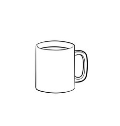 mug of hot drink hand drawn sketch icon vector image