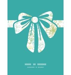Mysterious green garden gift bow silhouette vector