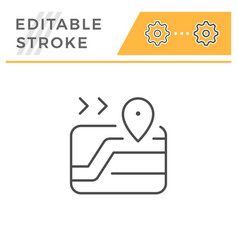 Navigation editable stroke line icon vector