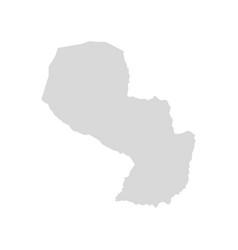 Paraguay map asuncion brazil vector