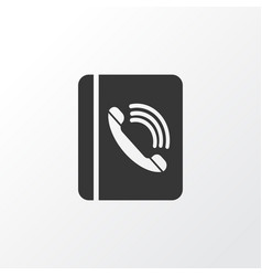 phone book icon symbol premium quality isolated vector image