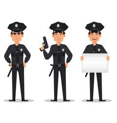 Police officer policeman vector
