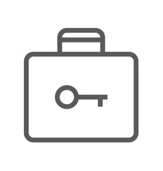 Public navigation line icon baggage storage vector