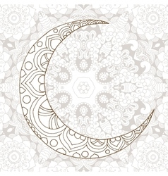 Ramadan Kareem half moon design background vector image