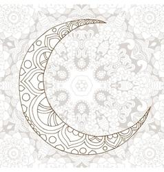 Ramadan Kareem half moon design background vector