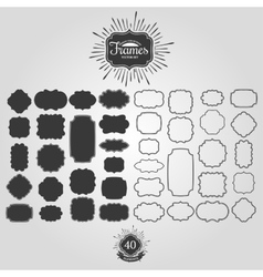Set of frames for vintage logos vector image