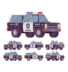 sheriff off-road car vector image