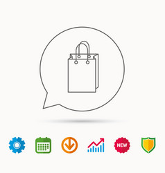shopping bag icon sale handbag sign vector image