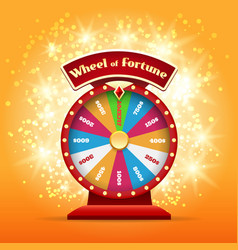 Spinning wheel luck vector