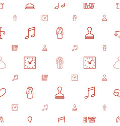 style icons pattern seamless white background vector image