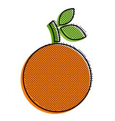 Stylized orange vector