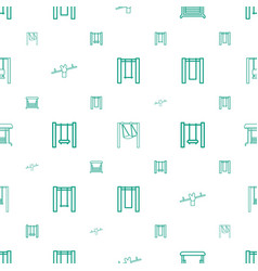 Swinging icons pattern seamless white background vector