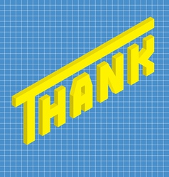 Thank isometric vector image