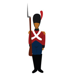 Tin soldier on white background vector