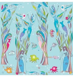 under the sea pattern vector image