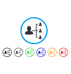 User scheme rounded icon vector