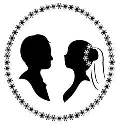 wedding silhouette 3 vector image